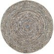 nuLOOM Glinda Natural Fiber 5' x 8' Oval Rug in Black (TADR05A-508O)