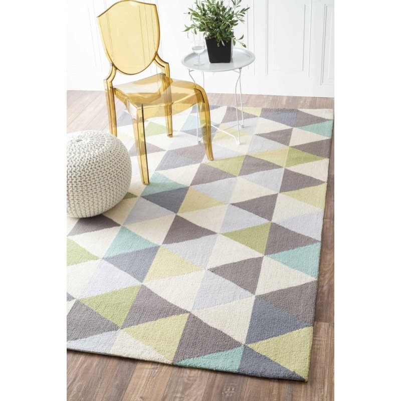 """nuLOOM Hand Hooked Anderson Rug 7' 6"""" x 9' 6"""" Green Rectangle (HJHK110A-76096)"""