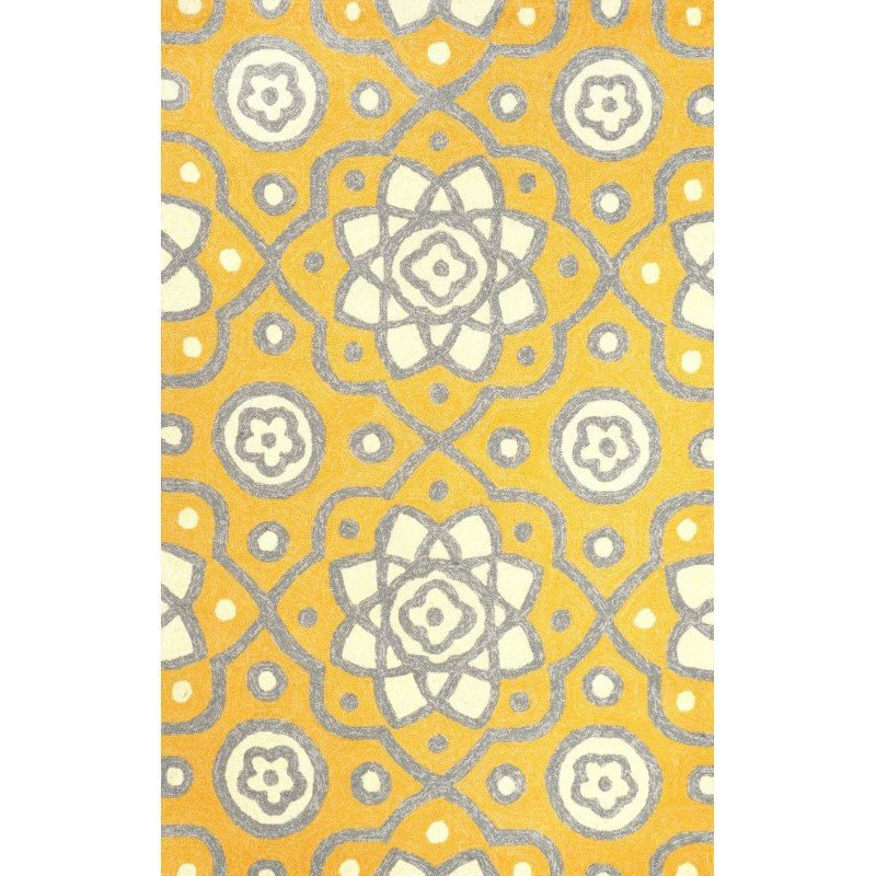 nuLOOM Hand Hooked Josefine Rug 5' x 8' Yellow Rectangle (AWVE13A-508)