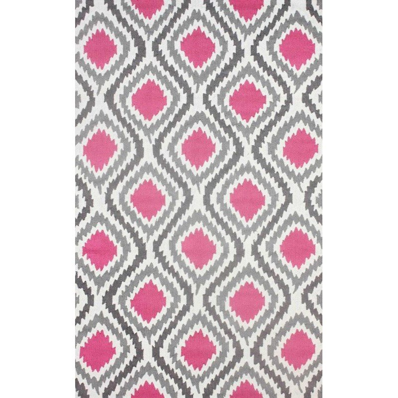 "nuLOOM Hand Hooked Matthieu Area Rug 7' 6"" x 9' 6"" Pink Rectangle (HJUZB45B-76096)"