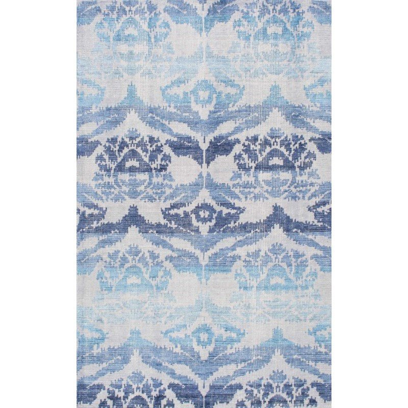 nuLOOM Hand Knotted Kayce Rug 8' x 10' Blue Rectangle (RDOV02A-8010)
