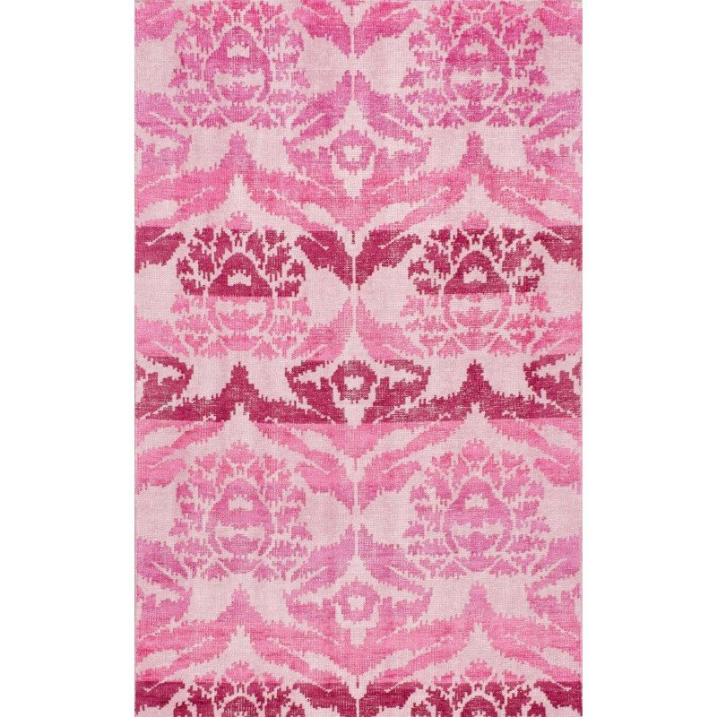 nuLOOM Hand Knotted Kayce Rug 8' x 10' Pink Rectangle (RDOV02B-8010)