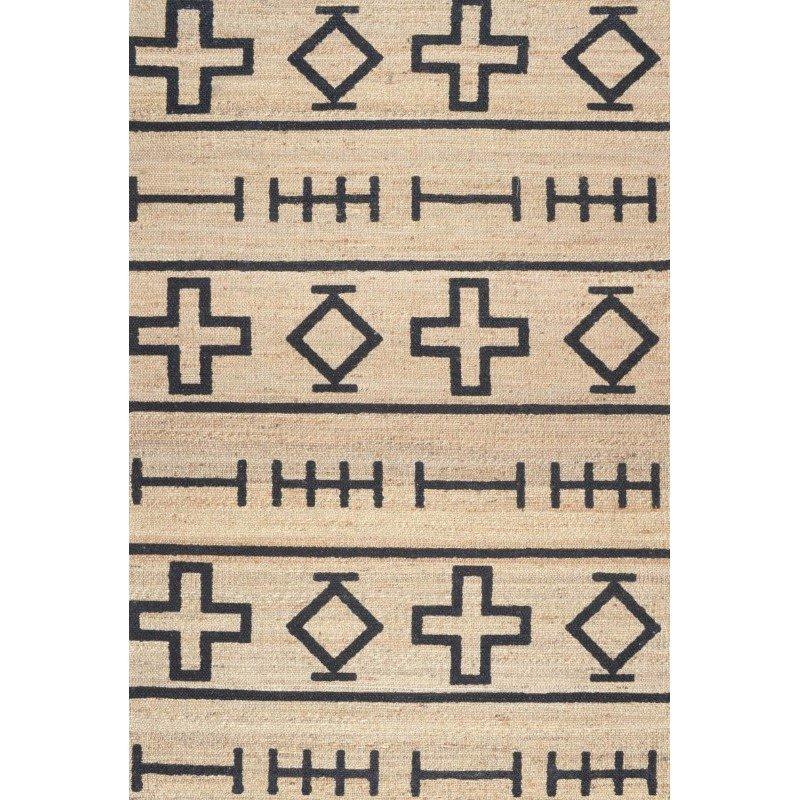 nuLOOM Hand Loomed Barry Rug 4' x 6' Natural Rectangle (GVSK01A-406)