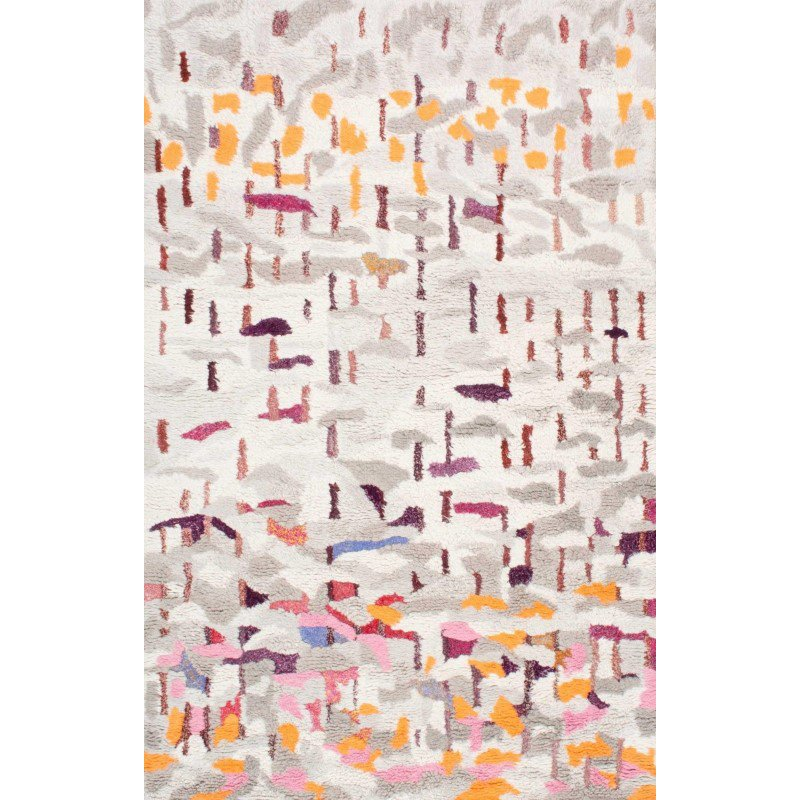 nuLOOM Hand Tufted Abstract Shiloh Shaggy Rug 5' x 8' Multi Rectangle (GYKL09A-508)
