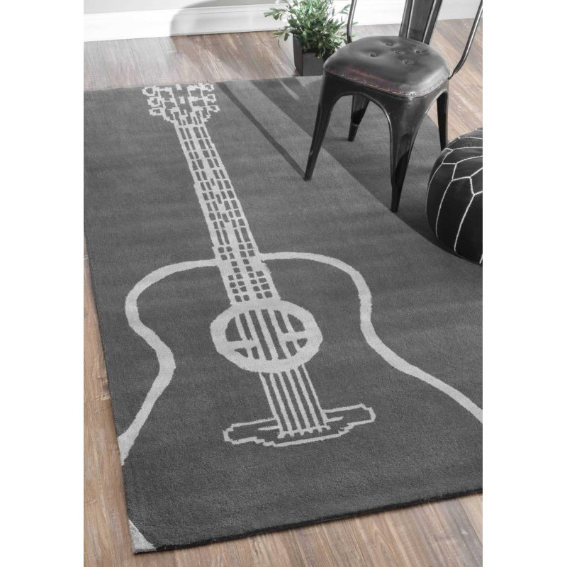 nuLOOM Hand Tufted Acoustic Rug 5' x 8' Grey Rectangle (ACR130A-508)
