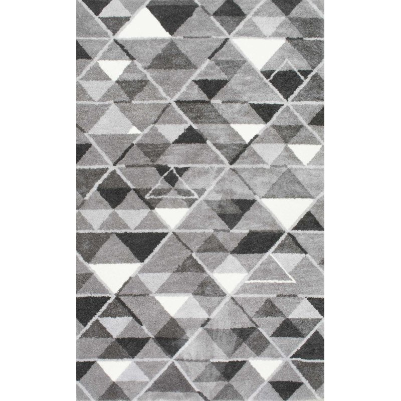 "nuLOOM Hand Tufted Anja Triangle Rug 7' 6"" x 9' 6"" Grey Rectangle (HJHD03A-76096)"