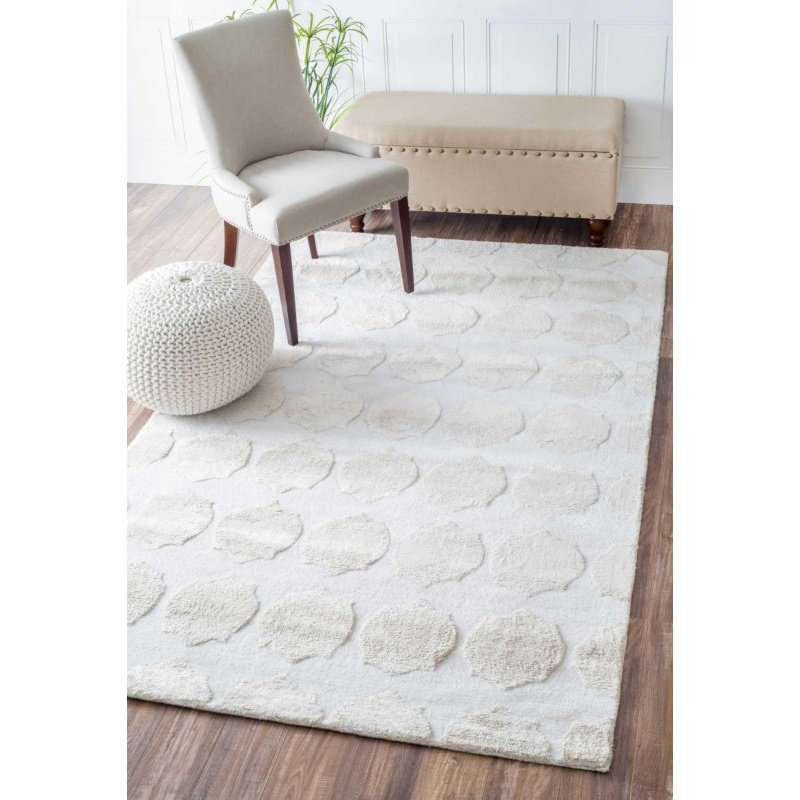 "nuLOOM Hand Tufted Bergstrom Rug 7' 6"" x 9' 6"" Silver Rectangle (AKMA8A-760906)"