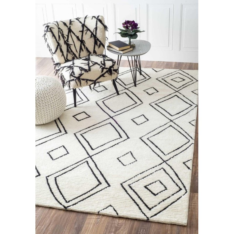 """nuLOOM Hand Tufted Dawne Rug 7' 6"""" x 9' 6"""" Natural Rectangle (GYML01A-76096)"""