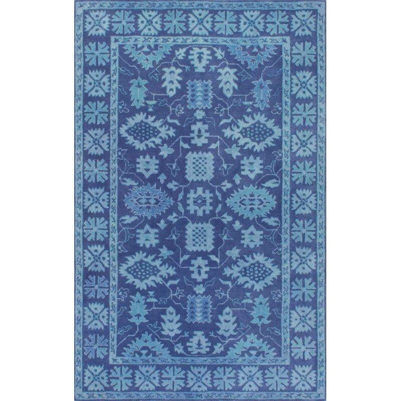 """nuLOOM Hand Tufted Floral Kory Rug 7' 6"""" x 9' 6"""" Blue Rectangle (MXEM01A-76096)"""