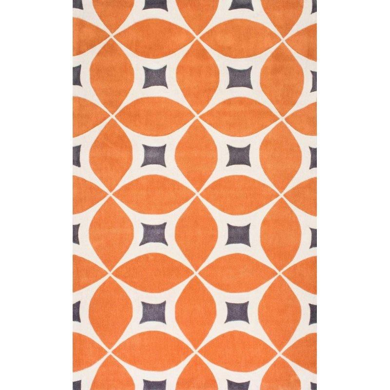 nuLOOM Hand Tufted Gabriela Area Rug 2' x 3' Deep Orange Rectangle (BHBC55A-203)