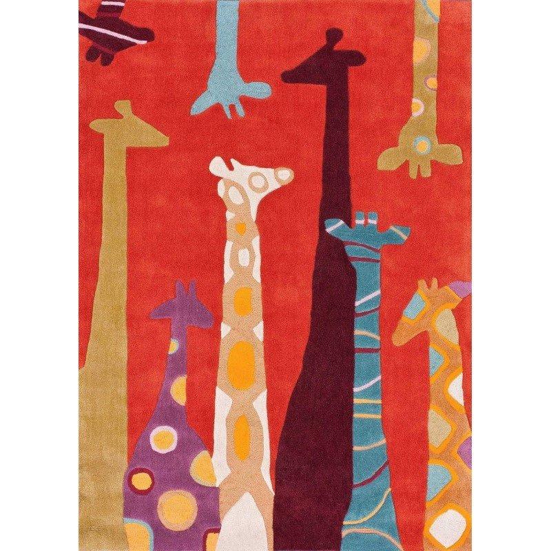 nuLOOM Hand Tufted Giraffe Rug 5' x 7' Red Rectangle (HJUZB33A-507)