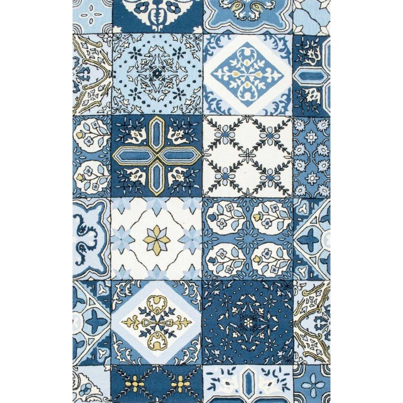 """nuLOOM Hand Tufted Ingeborg Rug 7' 6"""" x 9' 6"""" Blue Rectangle (HJME01A-76096)"""