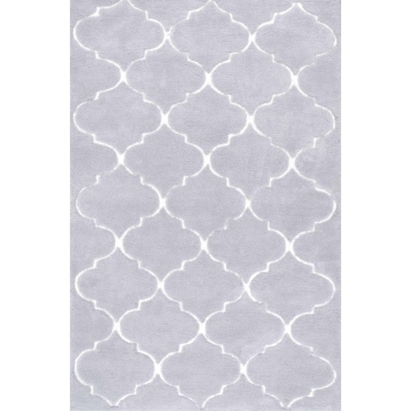 nuLOOM Hand Tufted Kathline Shag Rug 5' x 8' Grey Rectangle (ACR235A-508)