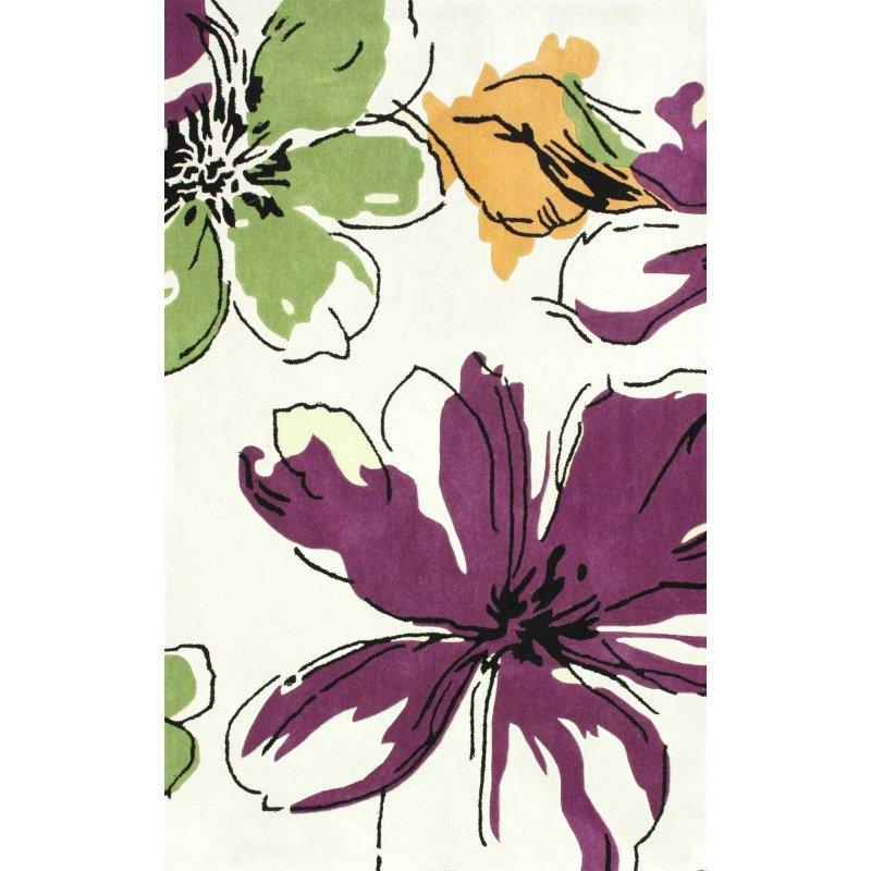 "nuLOOM Hand Tufted Melina Rug 3' 6"" x 5' 6"" Purple Rectangle (ACR169A-36056)"