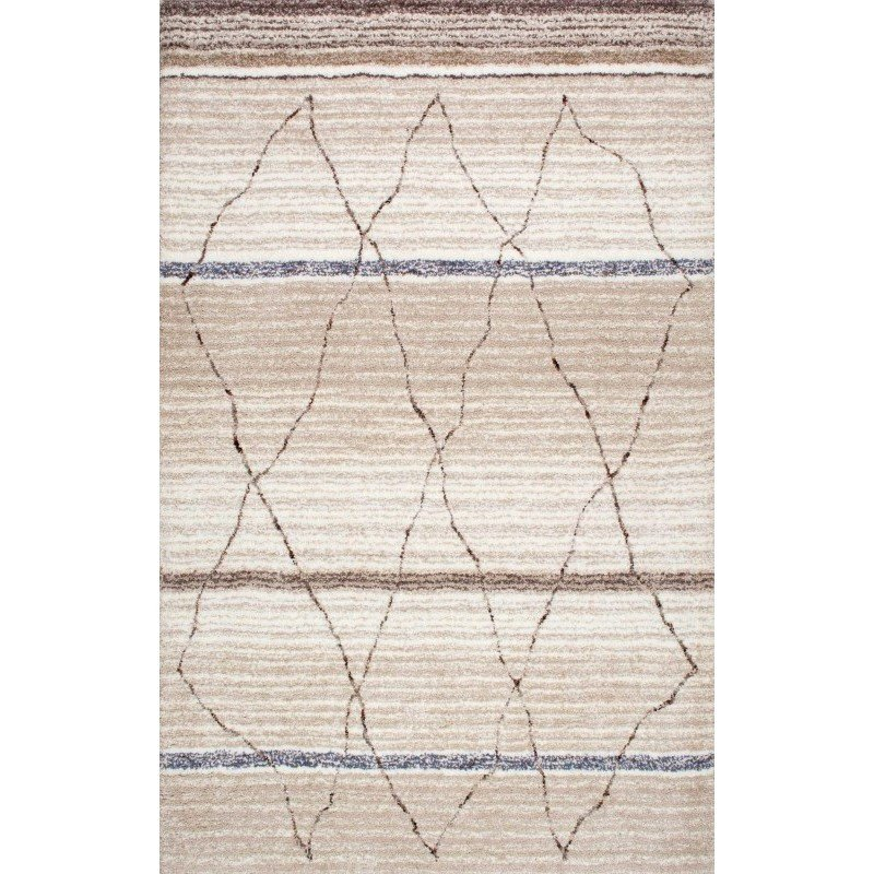 nuLOOM Hand Tufted Moroccan Arica Shag Rug 5' x 8' Beige Rectangle (HJKZ05A-508)