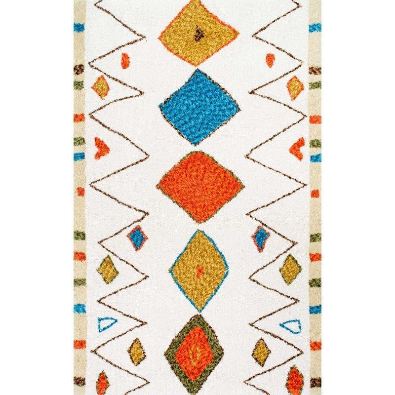"nuLOOM Hand Tufted Moroccan Dorinda Shag Rug 7' 6"" x 9' 6"" Multi Rectangle (HJKZ06A-76096)"