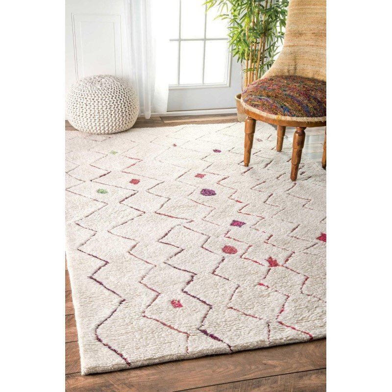 nuLOOM Hand Tufted Ninfa Moroccan Shag Rug 4' x 6' Red Rectangle (GYKL07A-406)