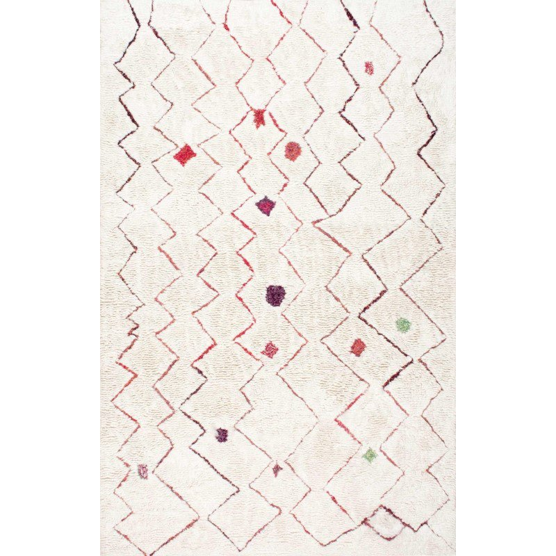 "nuLOOM Hand Tufted Ninfa Moroccan Shag Rug 7' 6"" x 9' 6"" Red Rectangle (GYKL07A-76096)"