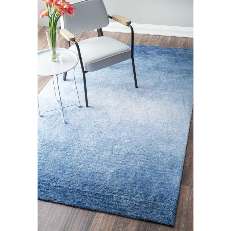 "nuLOOM Hand Tufted Ombre Bernetta Rug 7' 6"" x 9' 6"" Blue Rectangle (AWVE18B-76096)"
