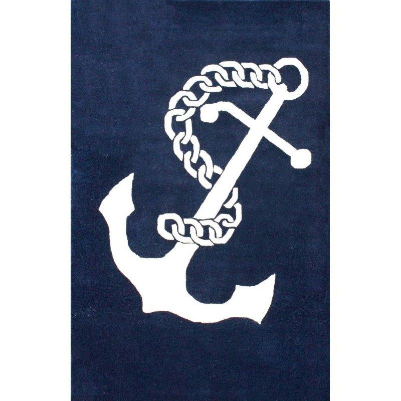 "nuLOOM Hand Tufted Set Sail Rug 7' 6"" x 9' 6"" Navy Rectangle (MTVS41A-76096)"