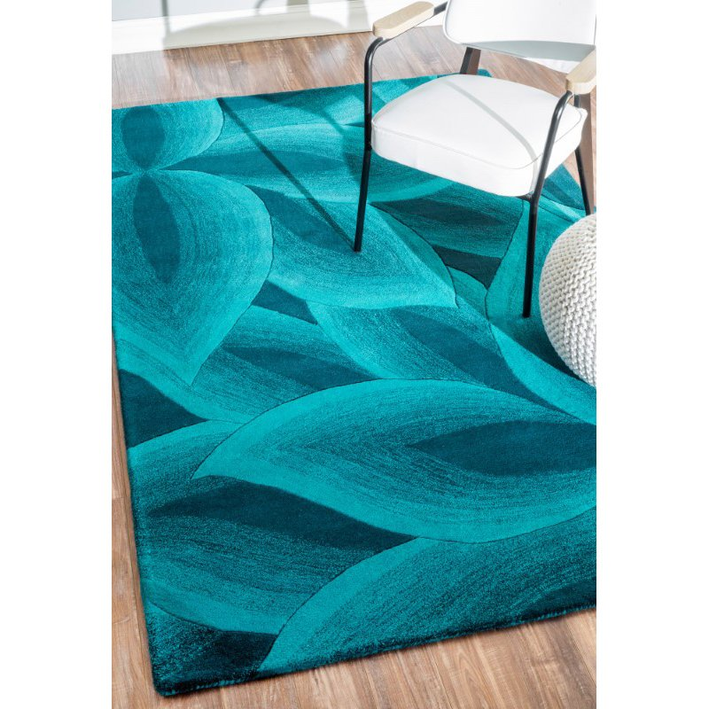 nuLOOM Hand Tufted Svetlana 6' x 9' Rectangle Rug in Teal (SEMA66A-609)