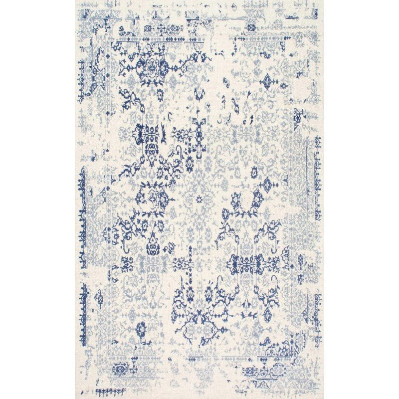 nuLOOM Hand Tufted Vintage Damask Inna Rug 5' x 8' Blue Rectangle (PRVN01B-508)