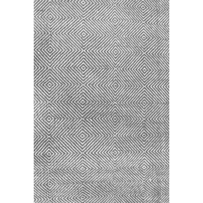 nuLOOM Hand Woven Ago Rug 5' x 8' Grey Rectangle (MTSF01C-508)