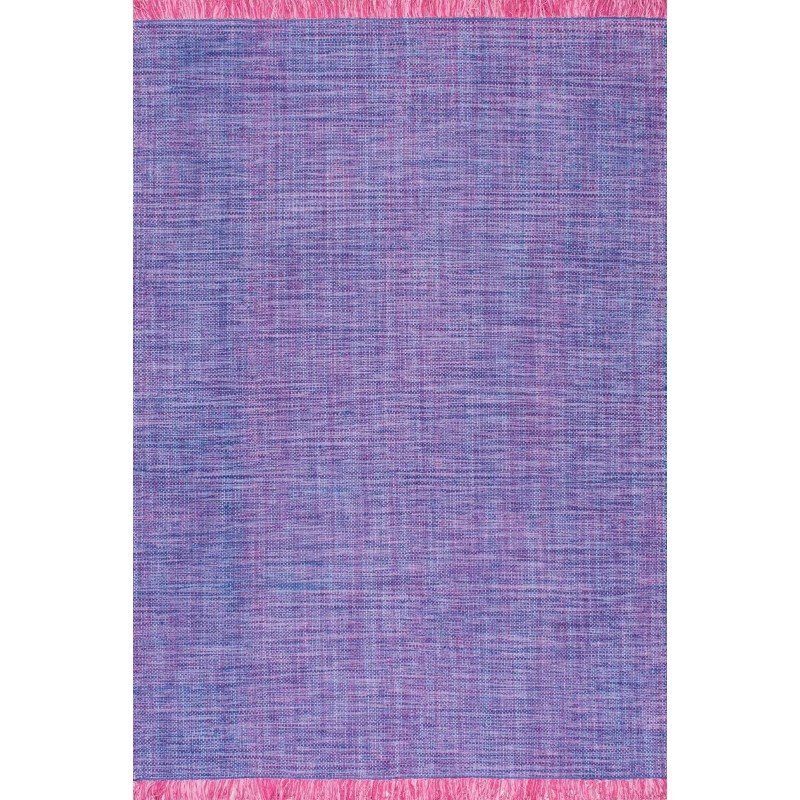"nuLOOM Hand Woven Cherelle Rug 7' 6"" x 9' 6"" Purple Rectangle (ANMY01C-76096)"