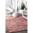 nuLOOM Hand Woven Chevron Rochell 6' x 9' Rectangle Rug in Magenta (VIAG01A-609)