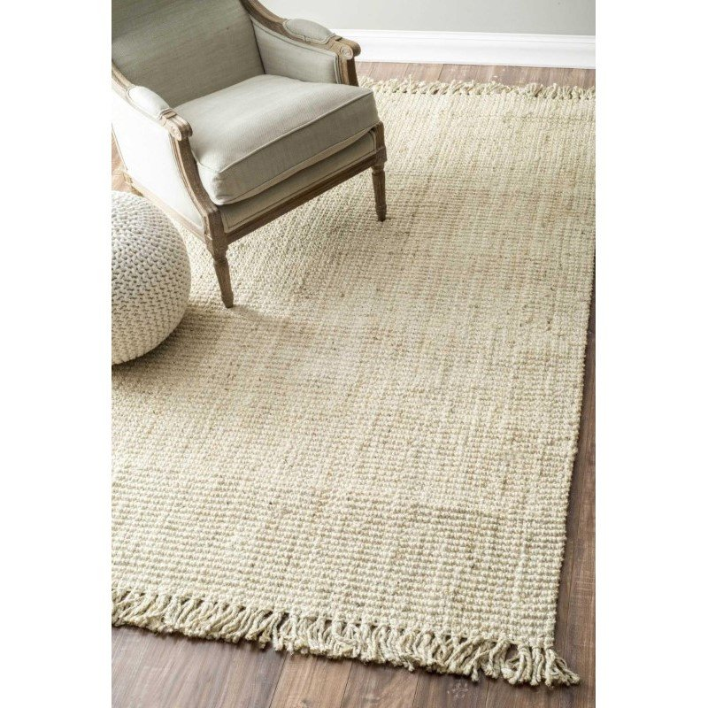 """nuLOOM Hand Woven Chunky Loop Jute Rug 2' 6"""" x 10' Bleached Runner (NCCL01E-26010)"""