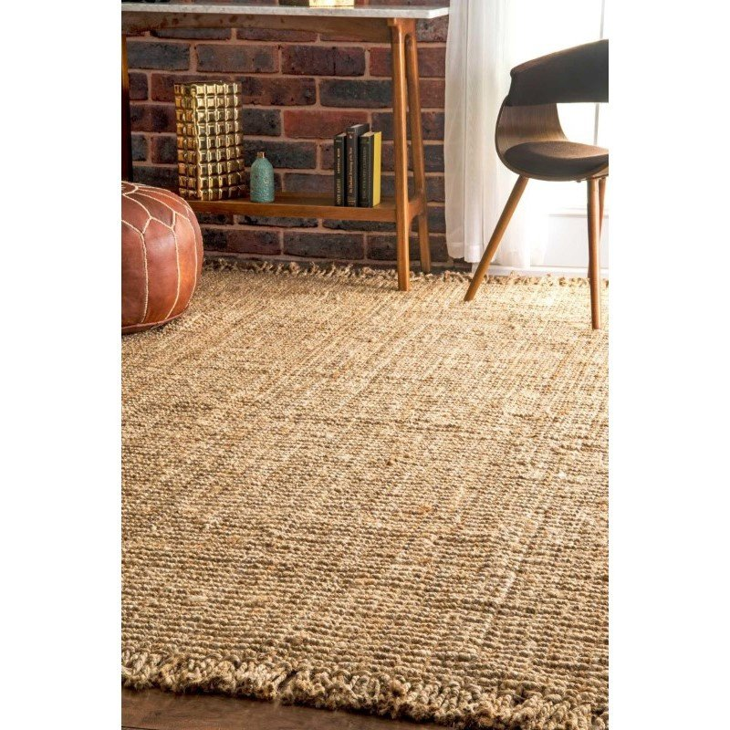 "nuLOOM Hand Woven Chunky Loop Jute Rug 2' 6"" x 8' Natural Runner (NCCL01-2608)"