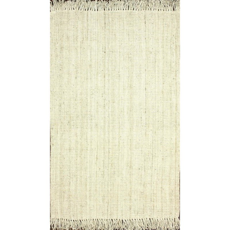 nuLOOM Hand Woven Chunky Loop Jute Rug 6' x 9' Bleached Rectangle (NCCL01E-609)