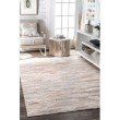 """nuLOOM Hand Woven Clarity Patchwork Cowhide 2' 6"""" x 8' Runner Rug in Beige (SECH02-2608)"""