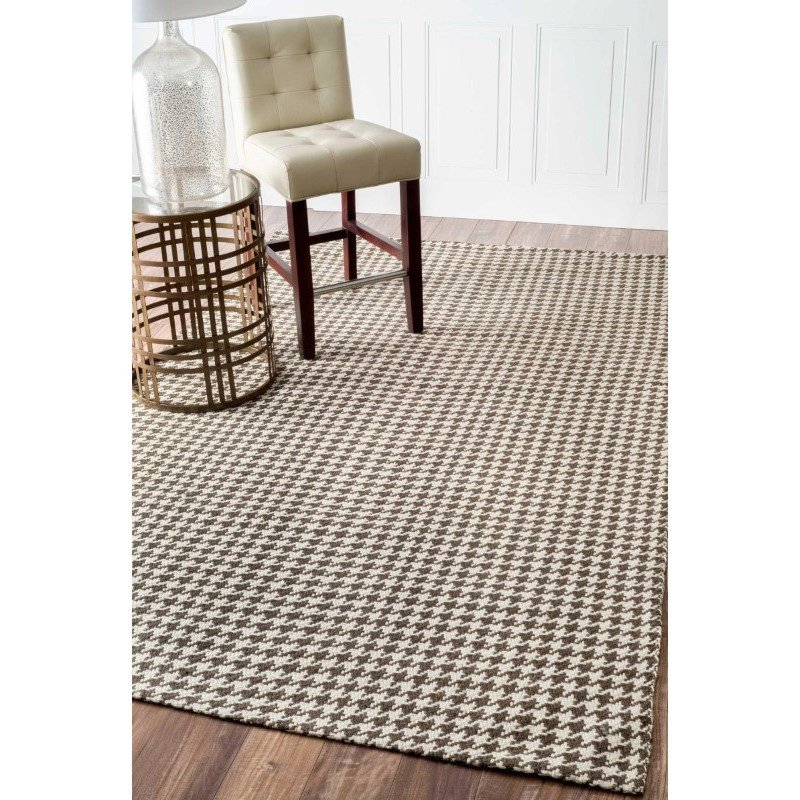 "nuLOOM Hand Woven Houndstooth Rug 8' 6"" x 11' 6"" Brown Rectangle (NCNT03B-860116)"