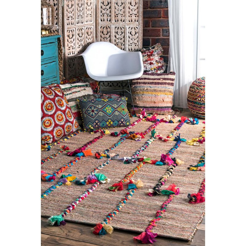 nuLOOM Hand Woven Kanesha Braids On 4' x 6' Rectangle Rug in Natural (SEUS01A-406)