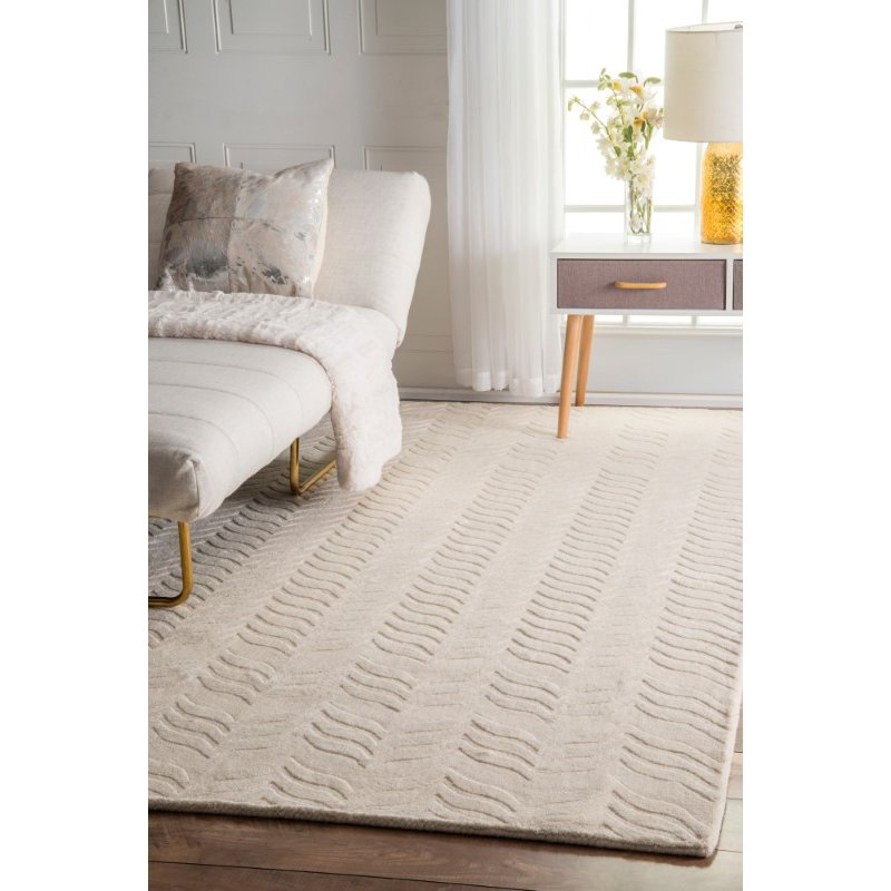nuLOOM Hand Woven Lundberg 6' x 9' Rectangle Rug in Ivory (RUCS01C-609)