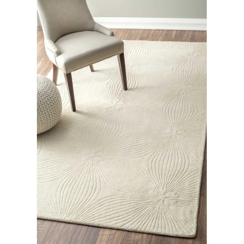 """nuLOOM Hand Woven Necole Rug 7' 6"""" x 9' 6"""" Ivory Rectangle (RUCS04A-76096)"""