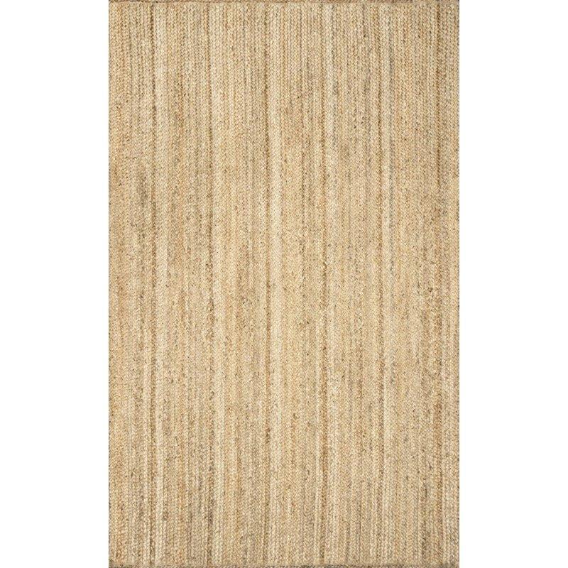 nuLOOM Hand Woven Rigo Jute 10' x 14' Rectangle Rug in Natural (TAJT03-10014)