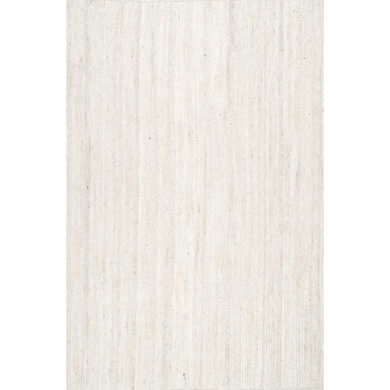 nuLOOM Hand Woven Rigo Jute 10' x 14' Rectangle Rug in Off White (TAJT03B-10014)