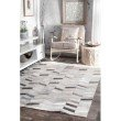 nuLOOM Handmade Cowhide Mitch 3' x 5' Rectangle Rug in Silver (TXAL01A-305)