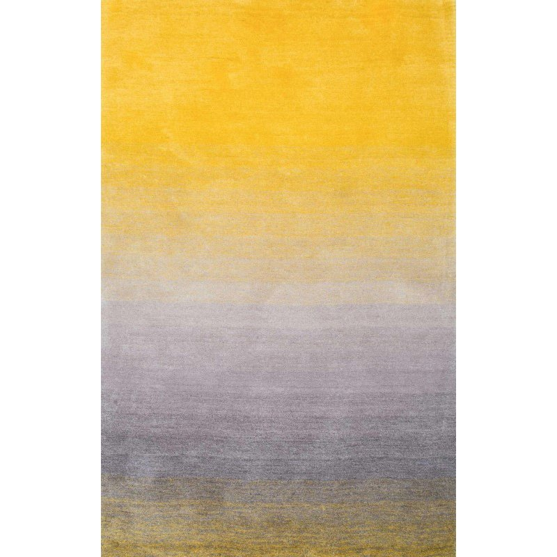 "nuLOOM Handmade Ombre Shag Rug 2' 6"" x 8' Yellow Runner (HJOS01A-2608)"