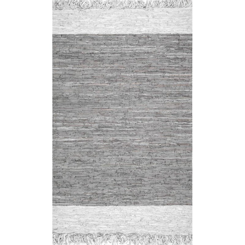 """nuLOOM Handmade Otha Tassel 2' 6"""" x 8' Runner Rug in Gray (SSOK01B-2608)"""