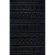 nuLOOM High-Low Durden Geometric 6' x 9' Rectangle Rug in Black (SESQ03A-609)