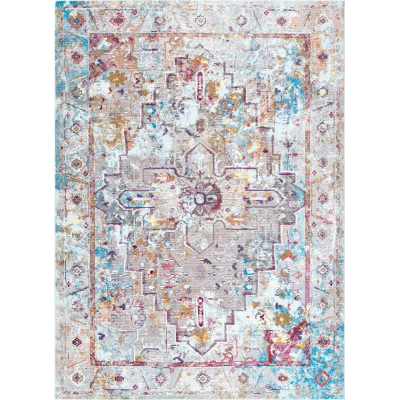 nuLOOM Izetta Antique Medallion 4' x 6' Rectangle Rug in Multi (YKNV06A-406)