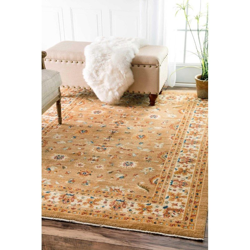 """nuLOOM Kenda Persian Orchard Rug 4' 1"""" x 6' Beige Rectangle (ECES05A-4057)"""