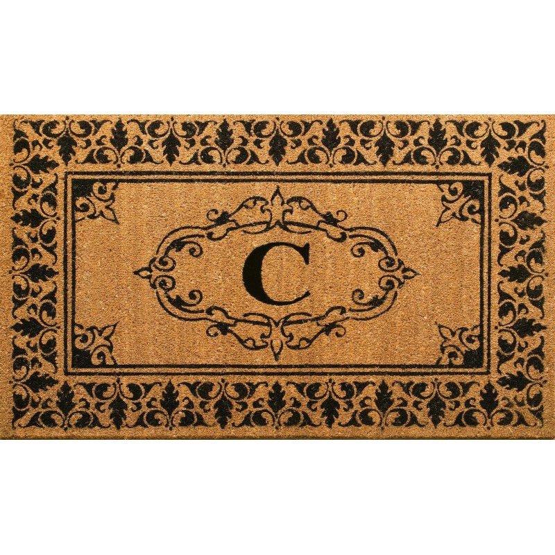 nuLOOM Letter C Doormat Rug 3' x 6' Letter C Rectangle (NCJC10C-306)