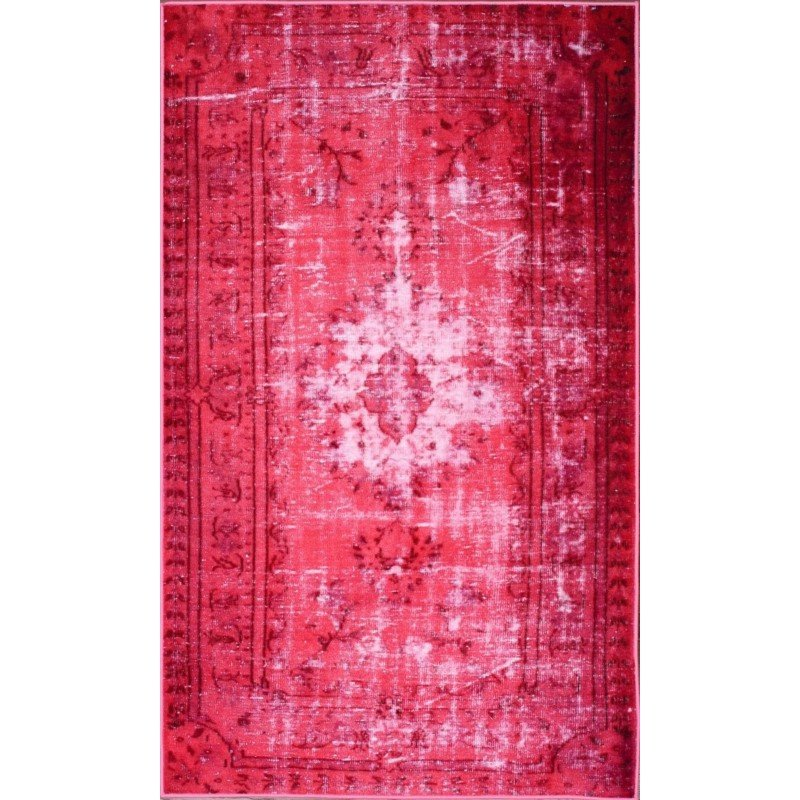 """nuLOOM Machine Made Chroma Overdyed Style Rug 5' 5"""" x 8' 2"""" Pink Rectangle (DIRE3A-411082)"""