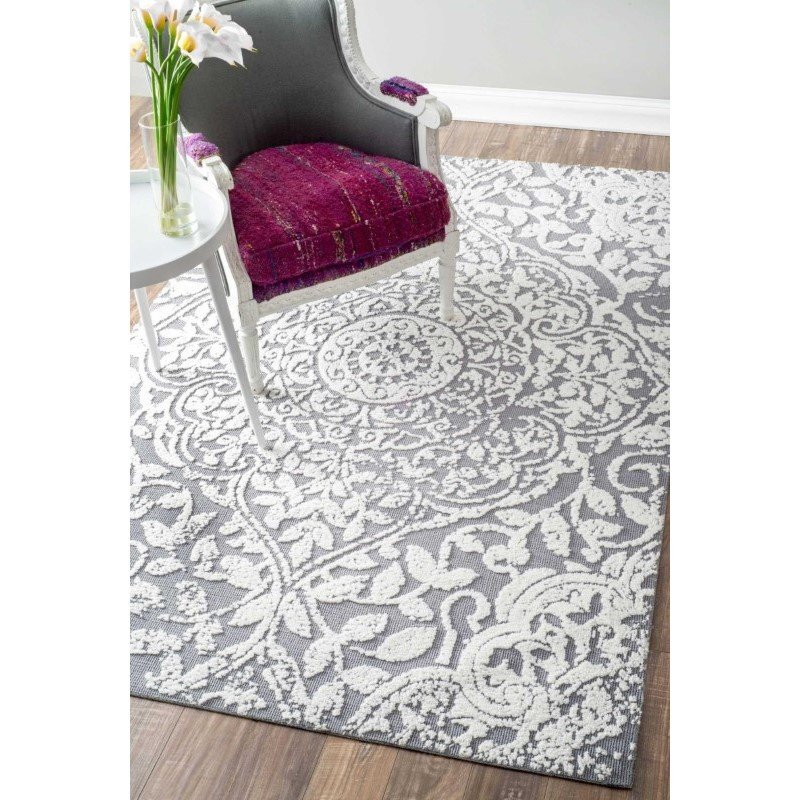nuLOOM Machine Made Lianne Rug 4' x 6' Grey Rectangle (AWVE20A-406)