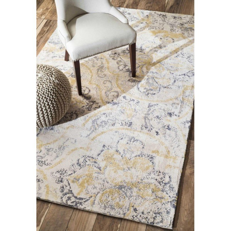 nuLOOM Machine Made Radiante Wash Rug 4' x 6' Ivory Rectangle (BHBC73A-406)