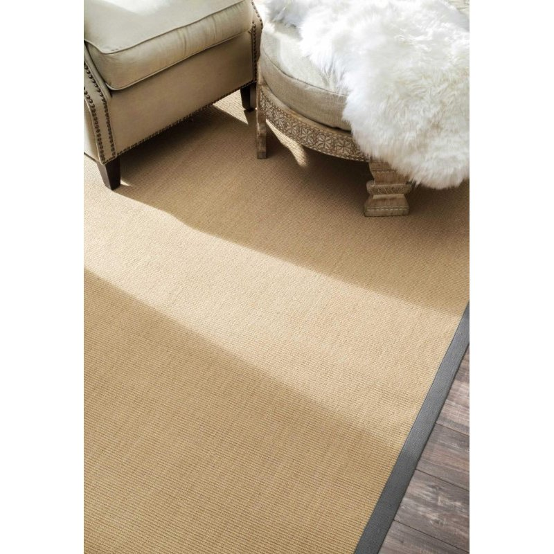 nuLOOM Machine Woven Laurel Jute Rug 5' x 8' Light Grey Rectangle (NCJC09-508)